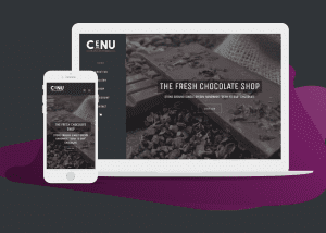 cenu cacao desktop and mobile view