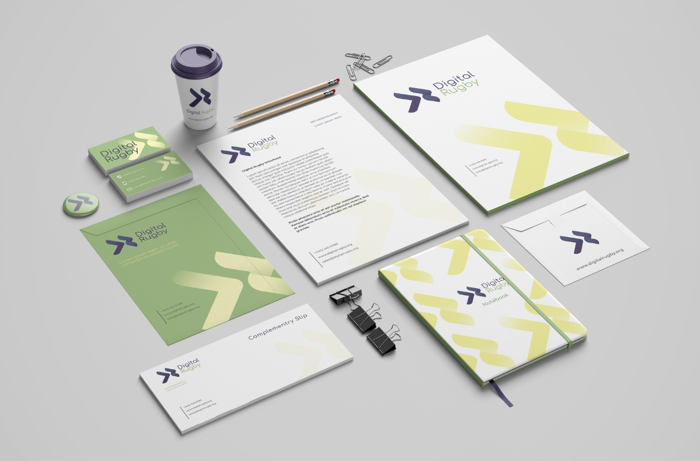digital rugby stationery pack. digital rugby