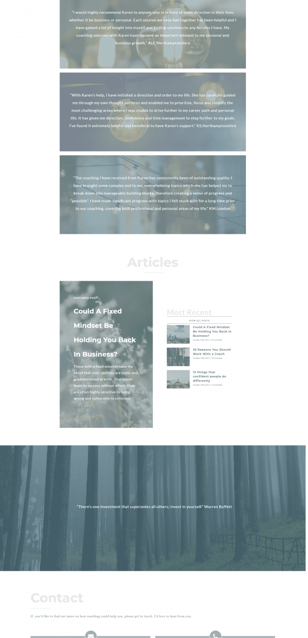karen kissane blog posts desktop view