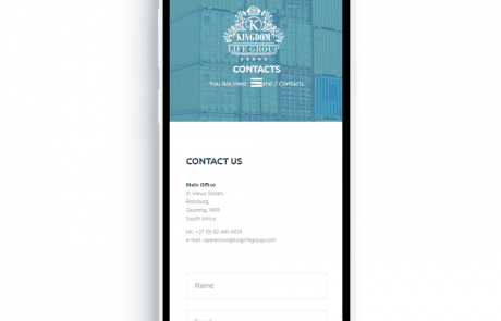 Kingdom Life Group Mobile Contact Mockup
