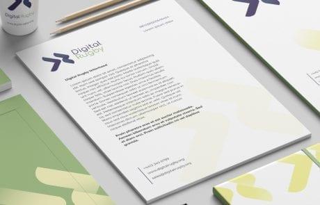 digital rugby letterhead