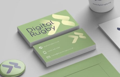 digital rugby business cards