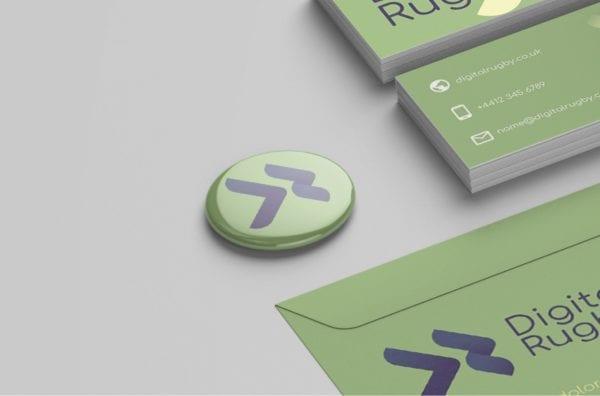digital rugby badge design