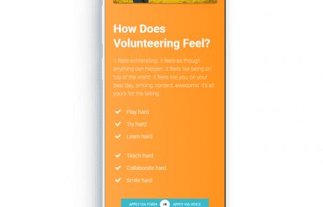 Imagineering Mobile Volunteers Mockup