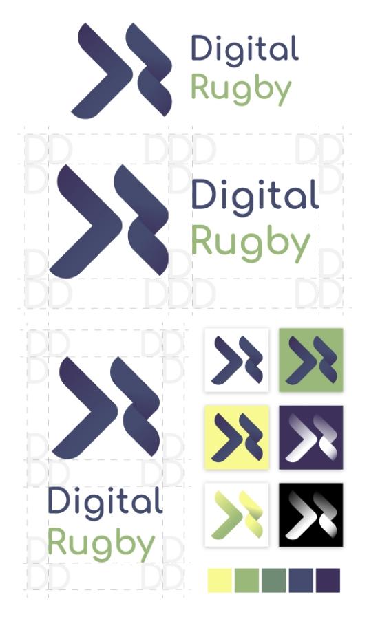digital rugby logo designs