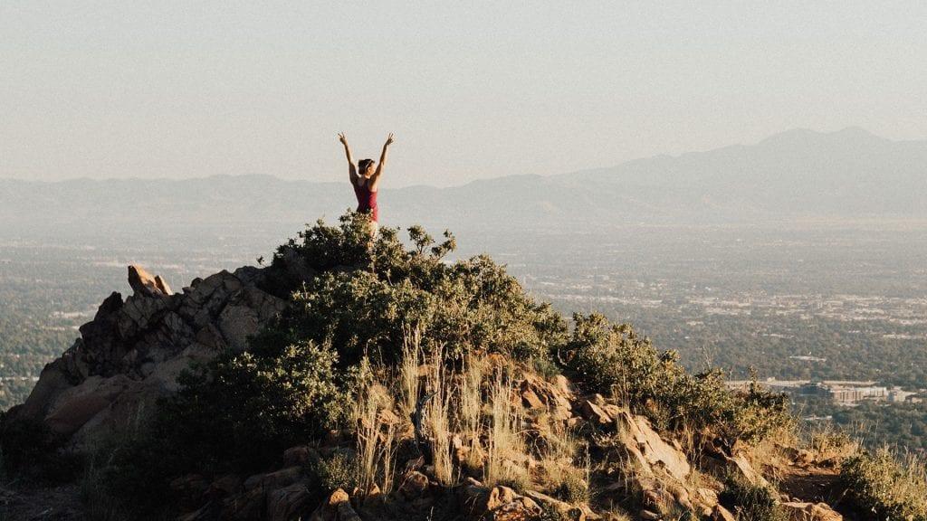 top of mountain, global